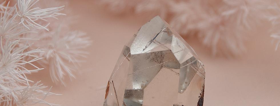 Pink Rutile + Lodolite w. Chlorite Phantoms