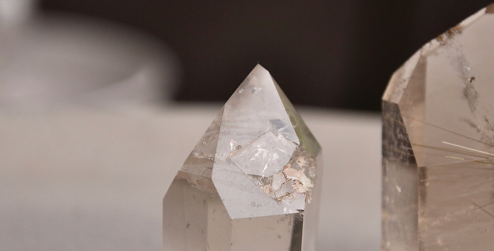 Brazilian Chlorite Phantom Quartz w. Internal Manifestation