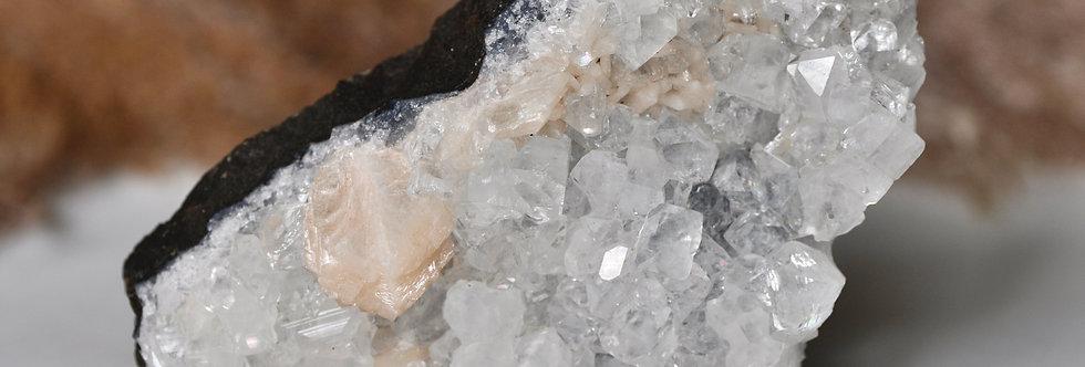 Apophyllite + Stilbite + Blue Chalcedony