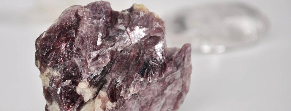Metallic Berry Lepidolite w. White Quartz