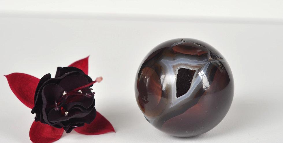 Dark Druzy Agate Sphere
