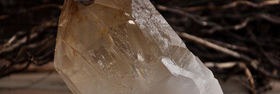 Natural Raw Citrine Lightbrary w. internal Crystal Phantoms