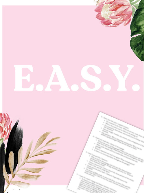 E.A.S.Y. Bible Study Method