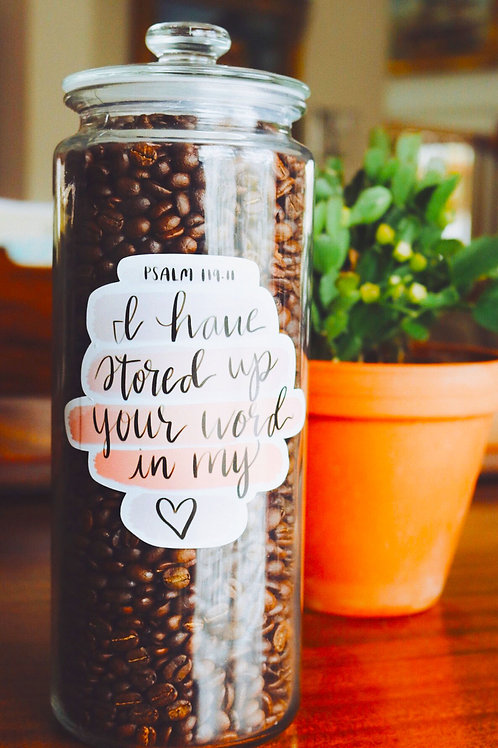 Vinyl Decal Stickers - I have stored up your word in my heart