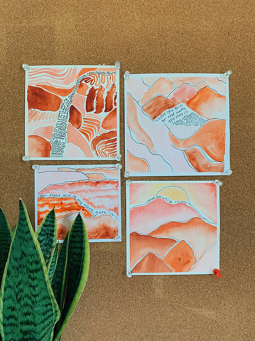4 Ruth Inspired Paintings (Print at Home)