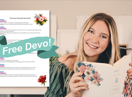 FREE 7 Day Easter Preparation Devotional!