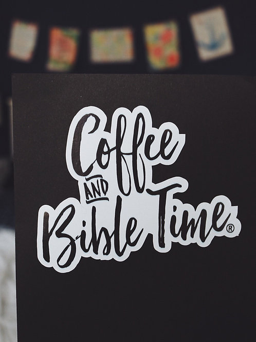 Vinyl Decal Stickers - Coffee and Bible Time® logo