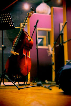 With our large live room and variable acoustic Gobos, at Golden Egg Recording Studios we can cater for choirs, orchestras and large music ensembles.