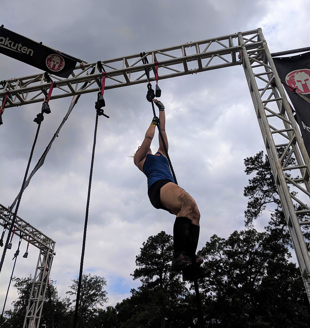 Claire climbs that rope