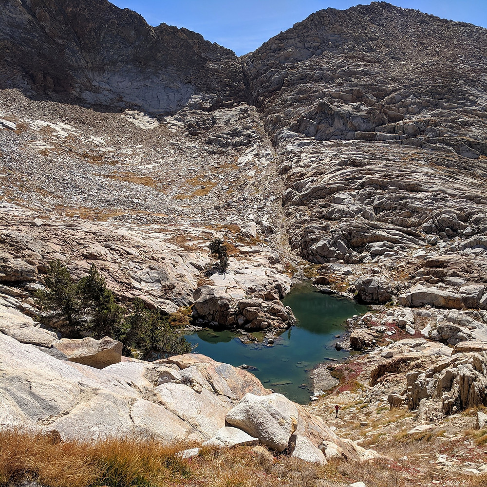Heading down from Mt Silliman