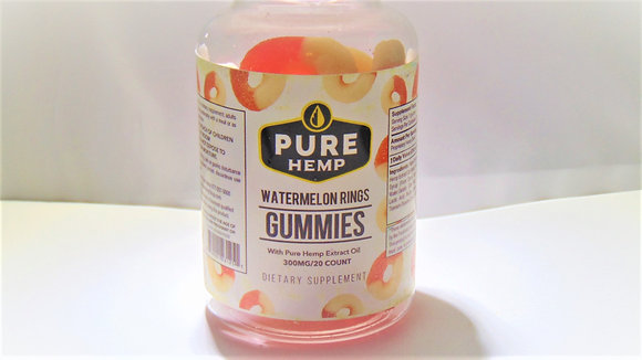 Watermelon Rings Pure Hemp Gummies