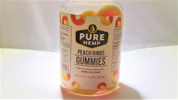 CBD Peach Rings Pure Hemp