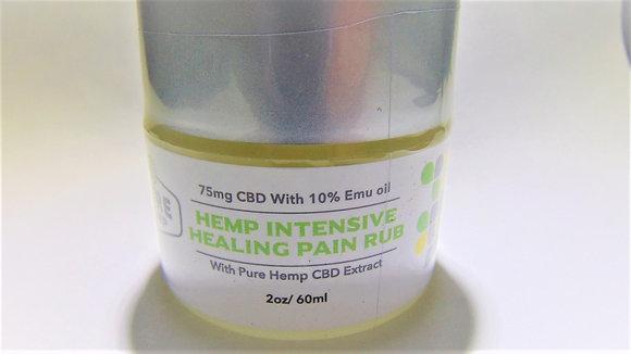 CBD Hemp Intensive Healing Pain Rub with Emu Oil