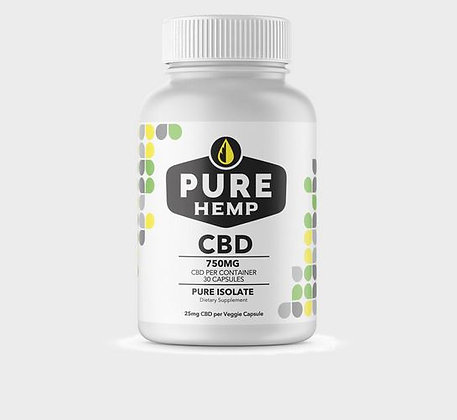 25mg CBD Hemp Capsules - 750mg total