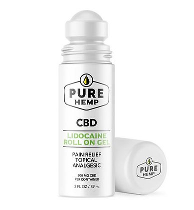 500mg CBD Hemp Roll on With Lidocaine PainRelief Topical