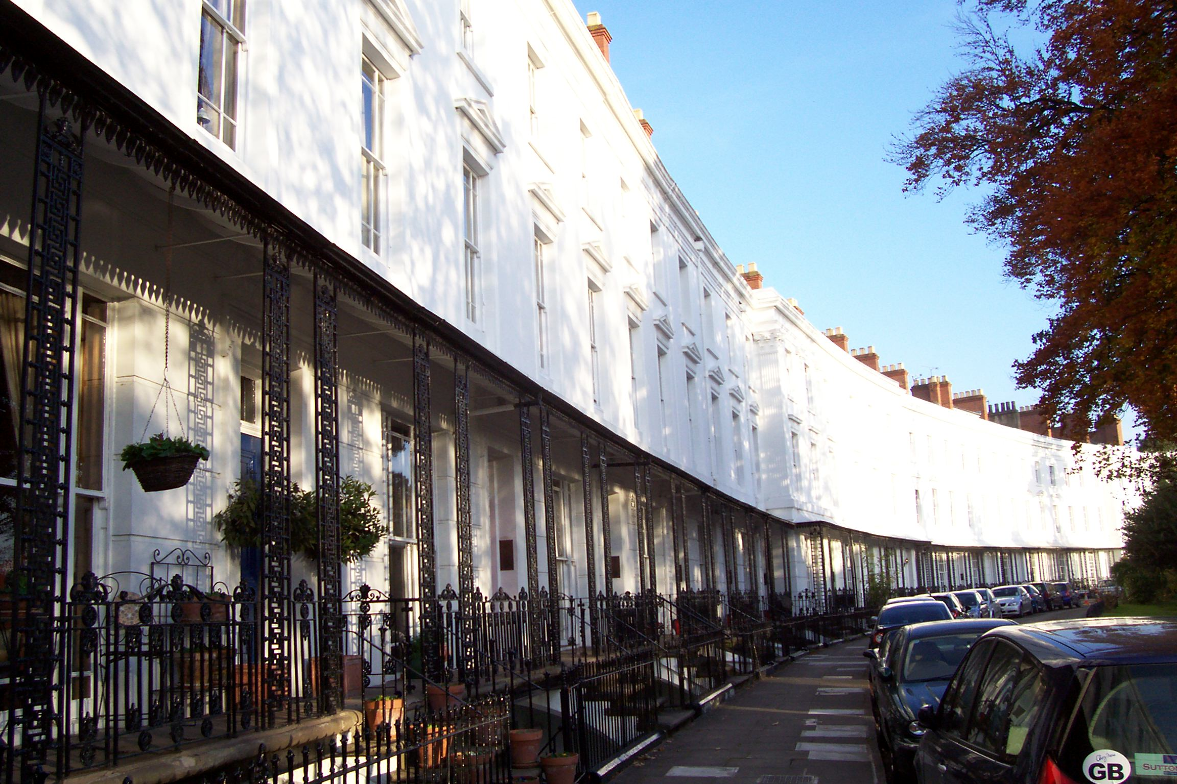 Lansdowne Crescent from west