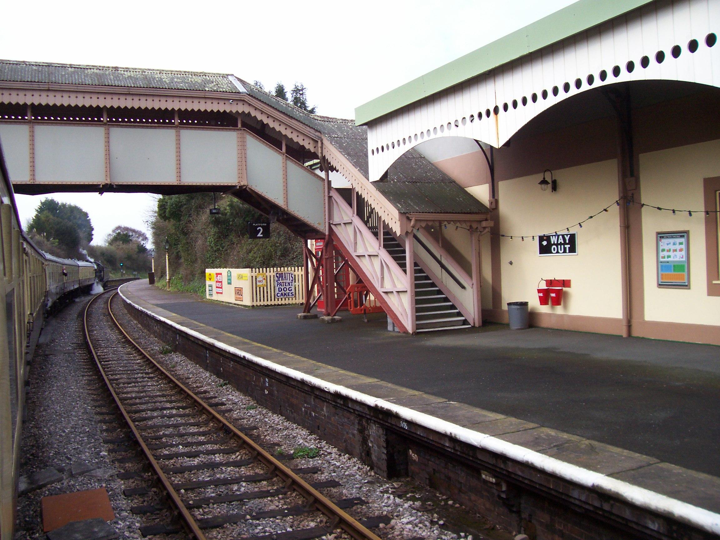 Churston Station and footbridge
