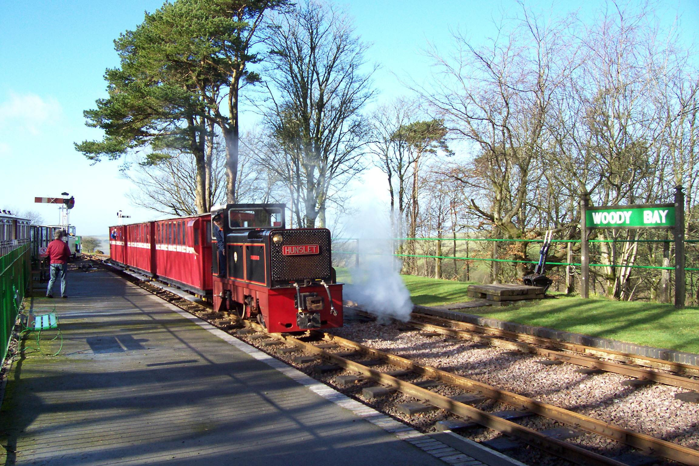 Diesel at Woody Bay