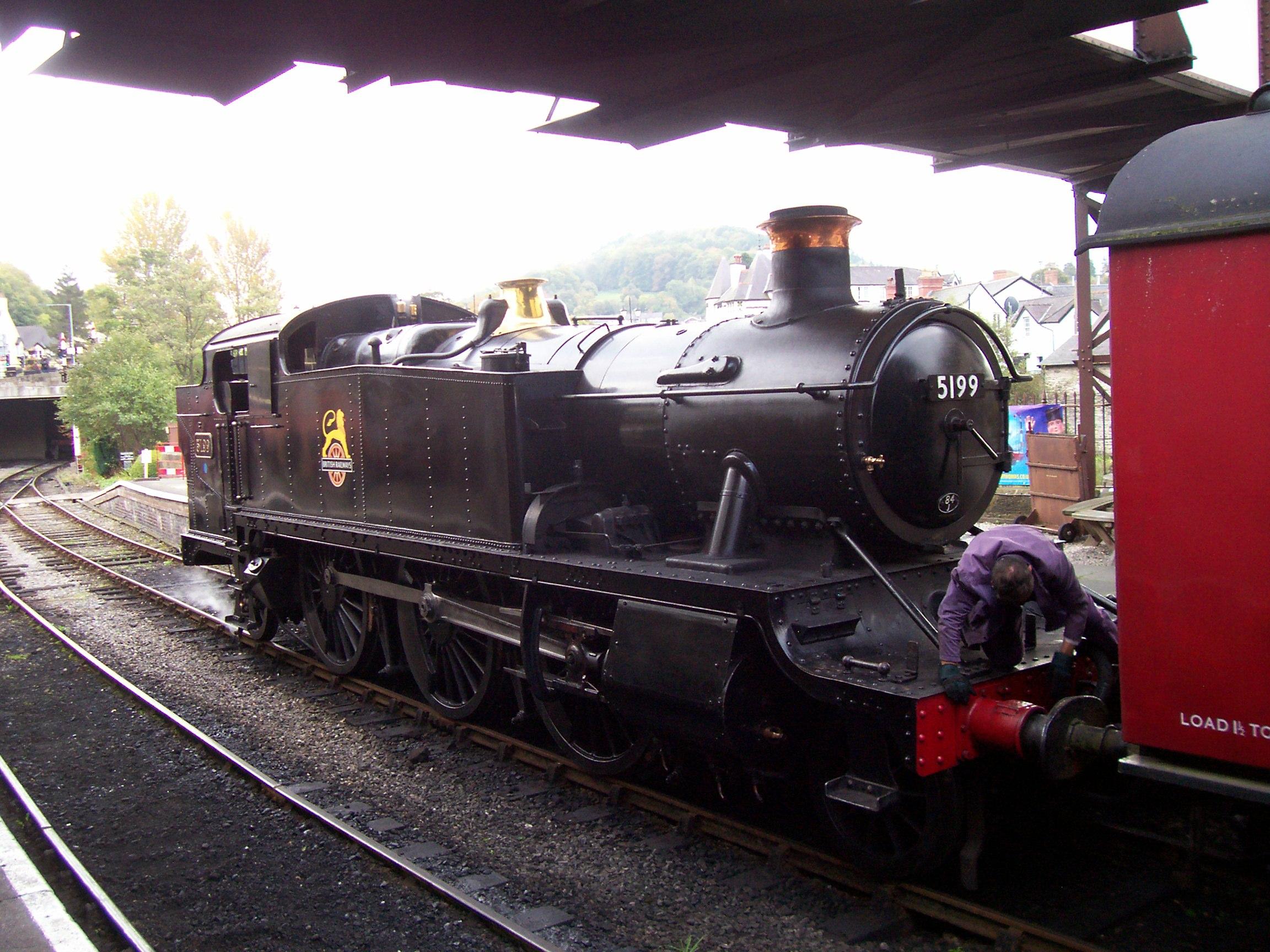 Prairie 5199 at Llangollen,