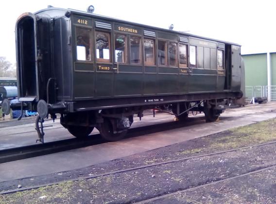 Restored 4 wheel carriage.