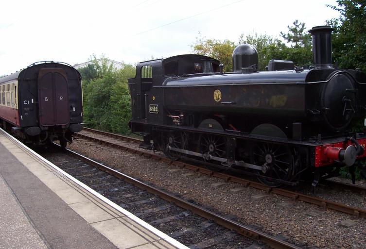 Pannier 6412 at Peterborough