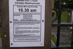 Bardon Park Chapel Notice