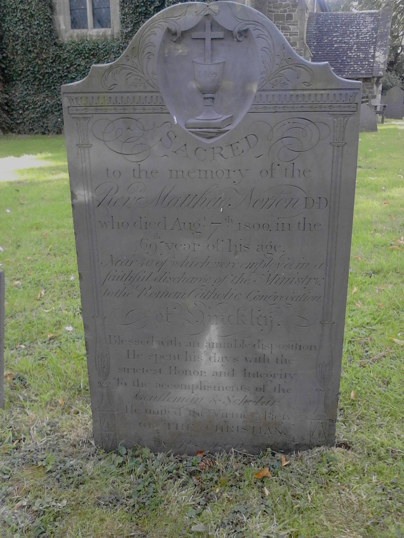 Headstone, Aston Flamville