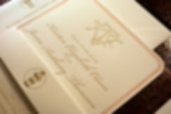 Letterpress invitations with monogram