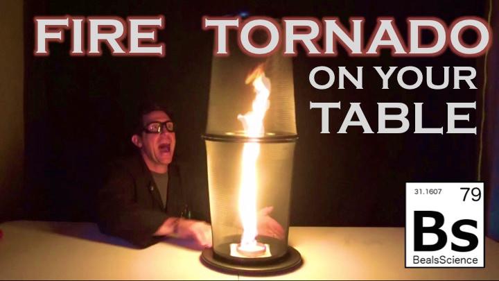 Learn how to make a fire tornado