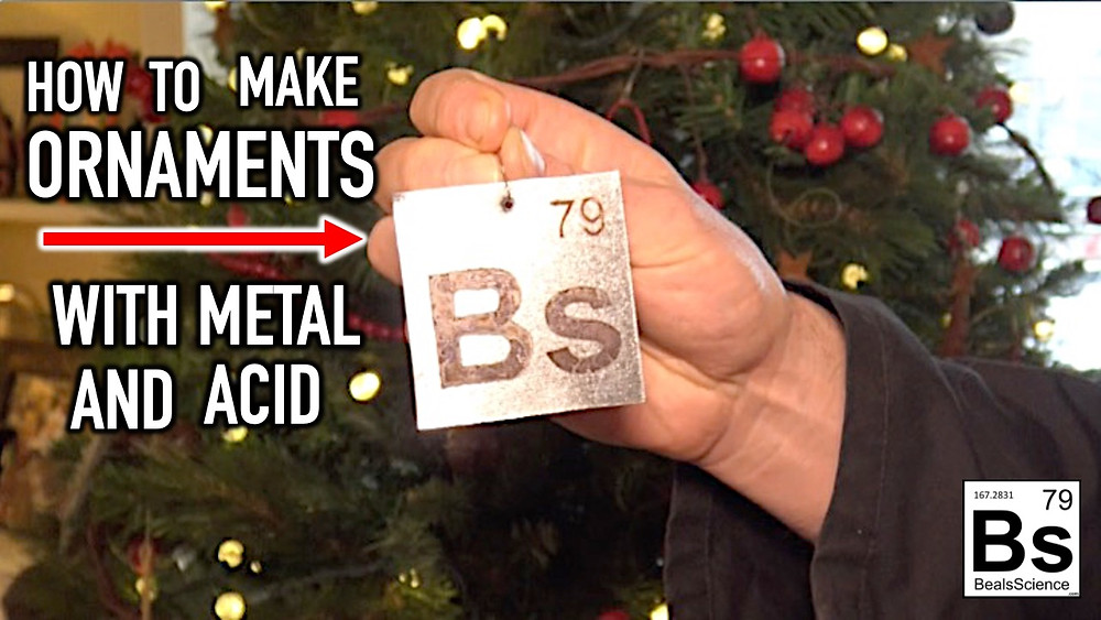 Learn how to make amazing Christmas ornaments with things you can buy at the hardware store using simple science.