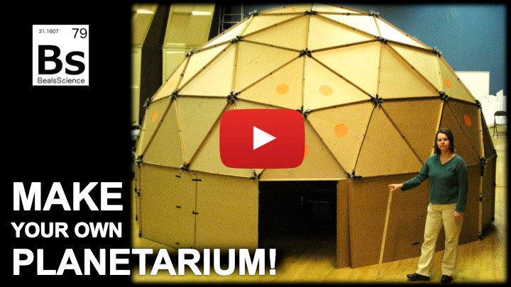 Make your own cardboard planetarium and projector!