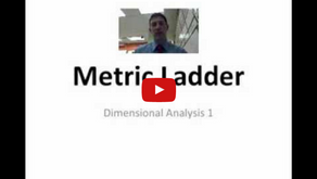 Dimensional Analysis 1: Introduction to Metric Conversions