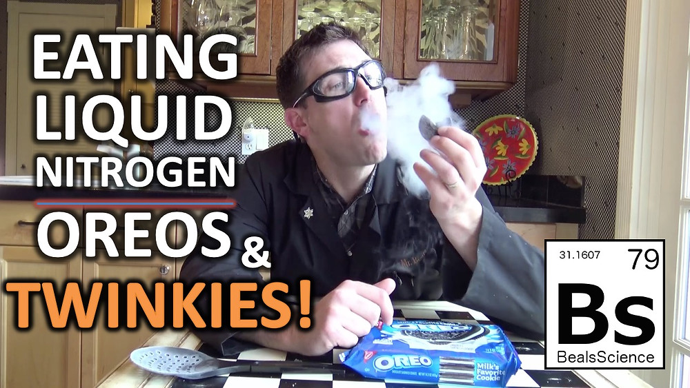 What happens when you eat oreos soaked in liquid nitrogen