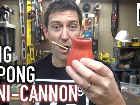 How to Make a Mini Cannon That Shoots Ping Pong Balls