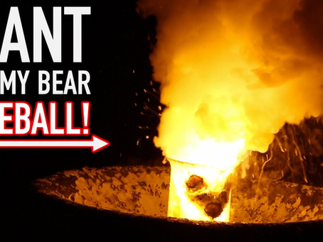 Giant Gummy Bear Fireball