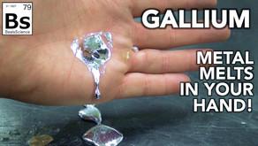 Gallium - Amazing Metal Melts in Your Hand!