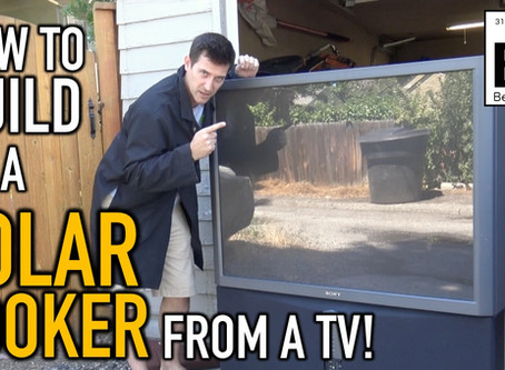 Solar Death Ray: Cooking with a Fresnel Lens from a Projection TV