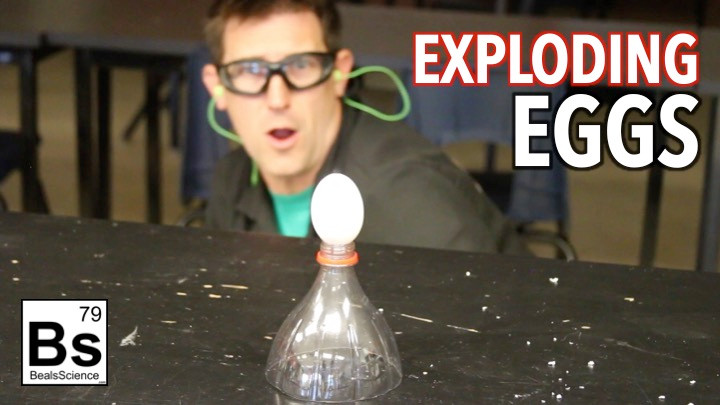 Exploding Eggs Making Hydrogen Gas From Acid