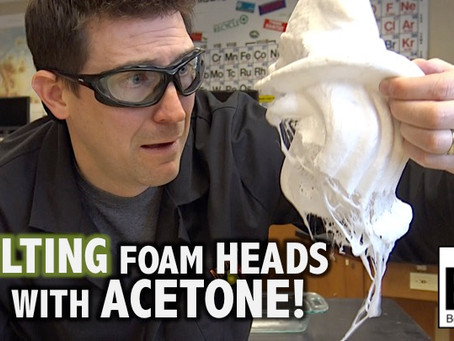 Melting Styrofoam Heads with Acetone!