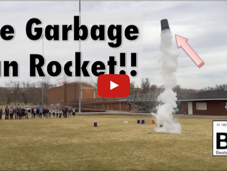 Launching a Garbage Can with Liquid Nitrogen!