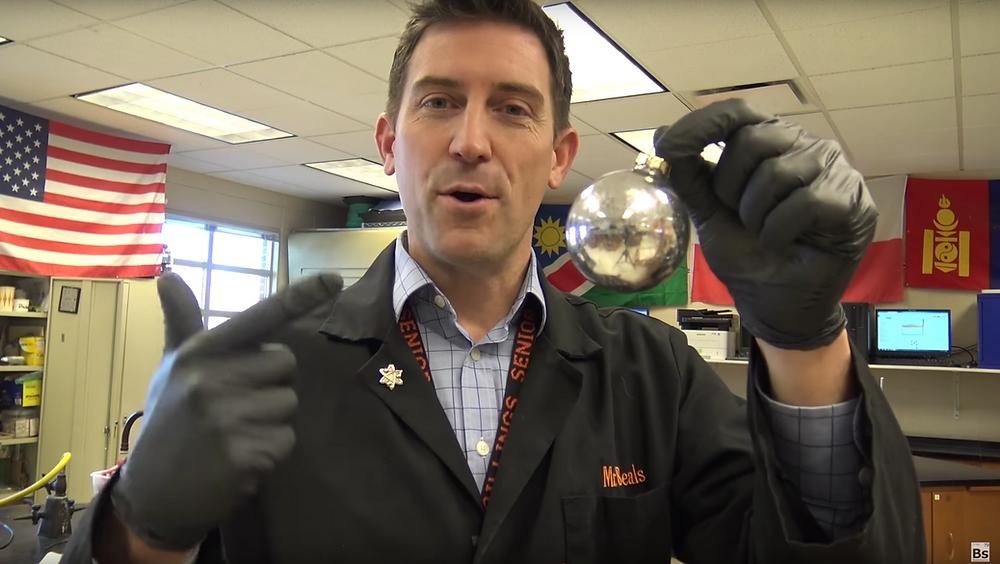 How to make a Gallium Christmas Ornament - Beals Science
