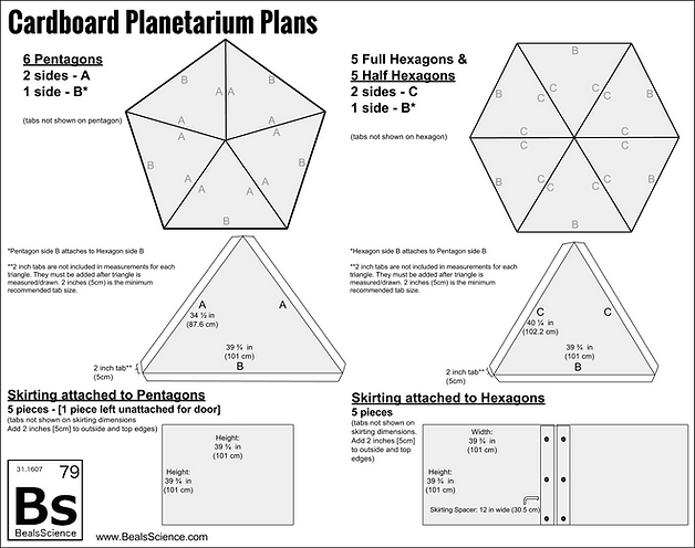 Make your own Cardboard Planetarium and Projector | Beals Science ...