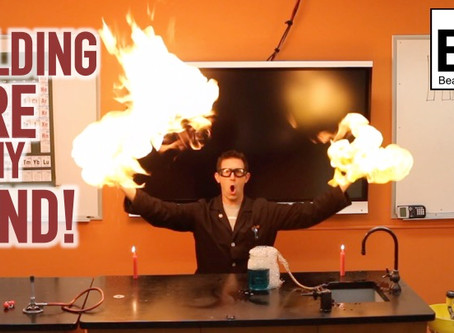 Flaming Soap Bubbles - Holding a Fireball in my Hand!