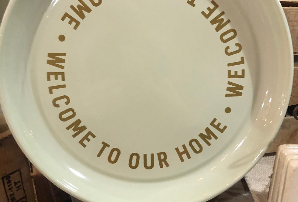 Welcome To Our Home Metal Platter