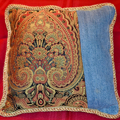 Gold tapestry with Denim  Item #1342