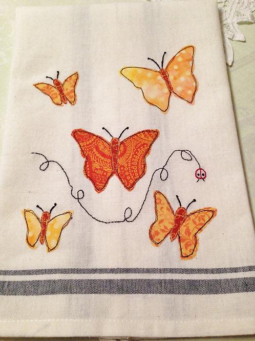 Butterflies Tea Towel  Item #1410