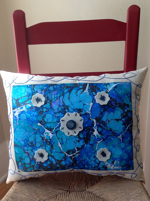 I've Got the Blues Marbled Pillow Item #1444