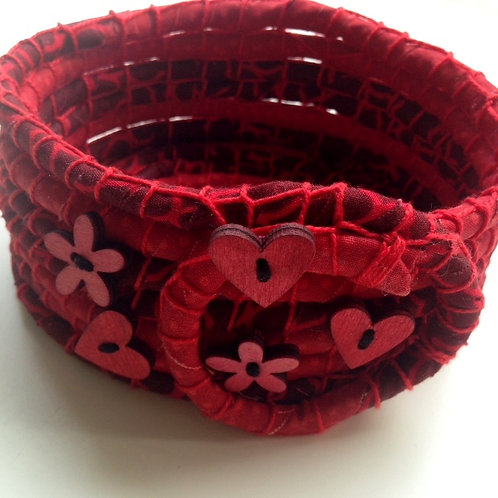 Passionate Coiled Fabric Bowl