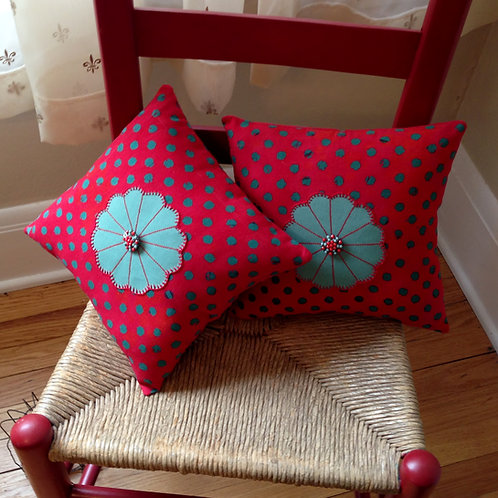 Petite Polka Dot Pillow #1  Item #1436
