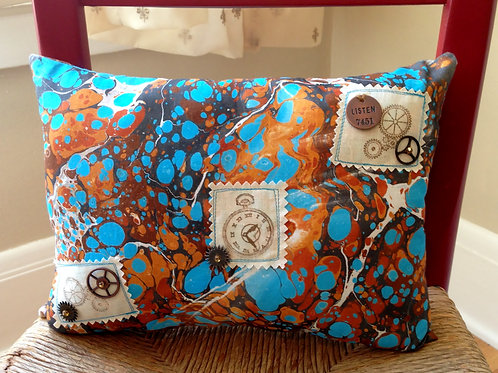 Time Piece Marbled Pillow  Item #1401